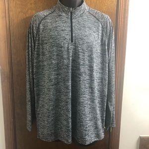 Under Armour Heat Gear Loose Grey 1/2 Zip Shirt